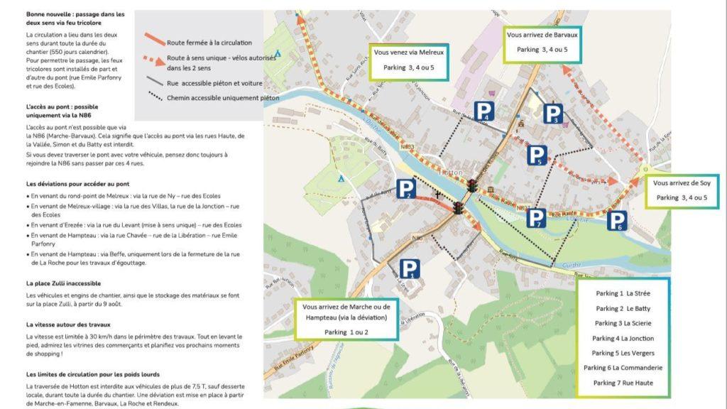 Plan de circulation de Hotton